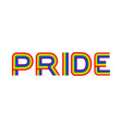 pride lgbt community emblem rainbow letters gay vector image vector image