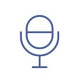 radio microphone icon in line art style studio vector image vector image