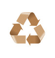 recycle paper and cardboard sign vector image vector image