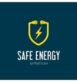 safe energy with blizzard concept symbol icon vector image vector image