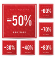 sale poster this weekend in red vector image vector image