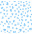 seamless pattern winter snowflakes background vector image vector image