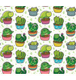 seamless pattern with succulents and vector image vector image