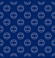 seamless travel pattern with lifebuoy line style vector image vector image