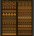 set 22 luxury seamless gold ornaments for vector image