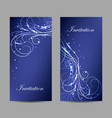 set banners with beautiful shiny pattern vector image vector image