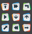 Set of 9 simple arrows icons can be found such vector image