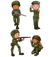 Simple sketches of a soldier vector image vector image