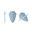 Sword and shield in flat eps vector image
