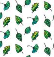 Vintage leaves seamless pattern vector image vector image