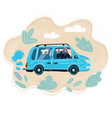 young woman ride in sharing vector image vector image
