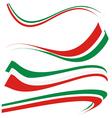 italian flag vector image