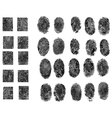 30 Fingerprints vector image