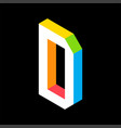 3d colorful letter d logo icon design template vector image vector image