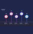 5 steps infographic design timeline chart vector image