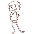 A plain sketch of a boy going to the beach vector image vector image
