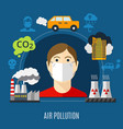 air pollution concept vector image vector image