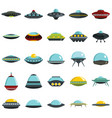 alien spaceship spacecrafts and ufo set vector image