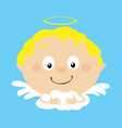 angel in heaven icon face simple flat design vector image vector image