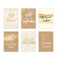 Autumn card collection vector image