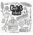 back to school card drawing supplies for vector image
