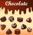 background with streaks of chocolate vector image