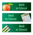Banner set Back to School vector image