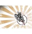 biker poster vector image vector image