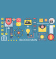 bitcoin cryptocurrency and blockchain network vector image vector image