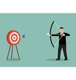 businessman hitting target vector image
