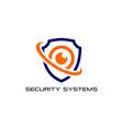camera security logo design template cctv icon vector image
