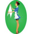 Cartoon maid icon vector image