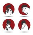 Chicken symbol vector image vector image
