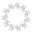 Circular frame of irregular flowers vector image