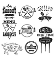 Collection of vintage retro BBQ badges and labels vector image vector image