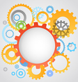 Color different gear wheels abstract background vector image vector image