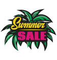 color poster for summer sale with inscription vector image vector image