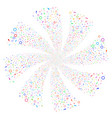 confetti stars fireworks swirl rotation vector image vector image