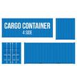 creative of sea freigh cargo vector image