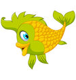 Cute cartoon green fish posing vector image vector image