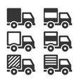 delivery truck icon set cargo sign on white vector image vector image