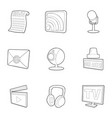 dispatch icons set outline style vector image vector image