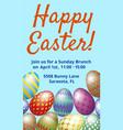 easter brunch invitation card vector image vector image