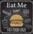 Eat me Elements on the theme of the restaurant vector image vector image