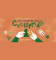 eco friendly christmas creative hand craft concept vector image vector image