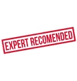 Expert Recomended rubber stamp vector image vector image