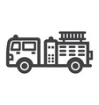 fire engine line icon transport and vehicle vector image vector image
