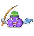 fishing trefoil mascot cartoon style vector image
