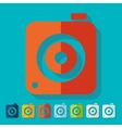 Flat design photo camera vector image
