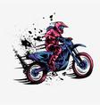 girl motocross design vector image vector image